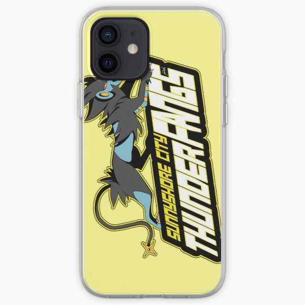 Sunnyshore City Thunder Fangs: Luxray Sports Logo iPhone Soft Case