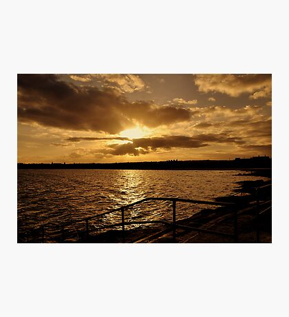 Autumn evening sunset. Photographic Print