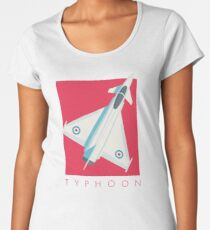 Eurofighter Typhoon - Crimson Women's Premium T-Shirt