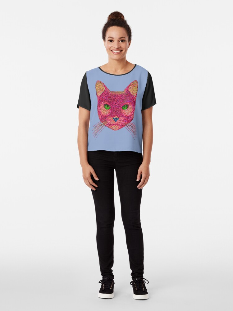 Alternate view of Rose Hungry Cat Chiffon Top