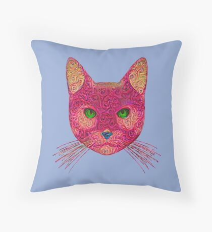 Rose Hungry Cat Floor Pillow