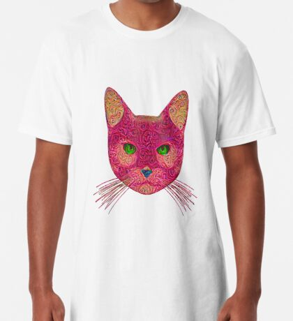 Rose Hungry Cat Long T-Shirt