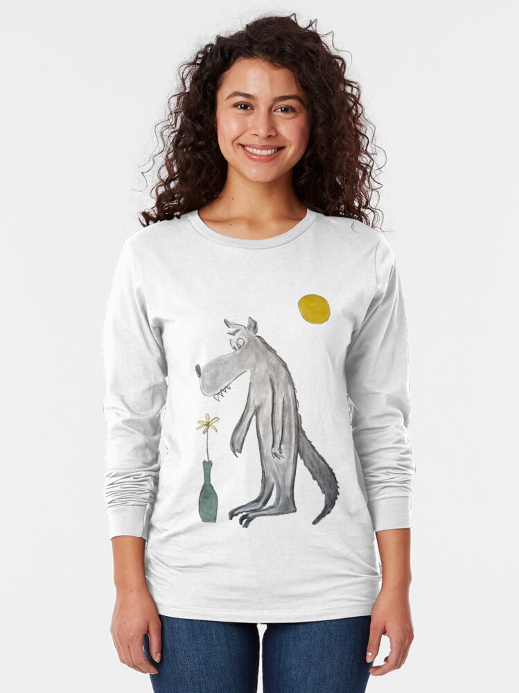 Alternate view of Romantic wolf Long Sleeve T-Shirt