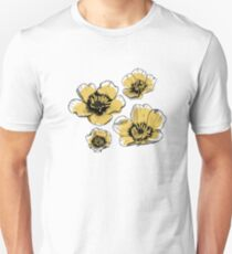 Yellow Buttercups Slim Fit T-Shirt