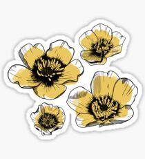 Yellow Buttercups Sticker