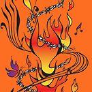 Music On Fire by bettinadreier75