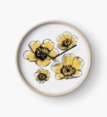 Yellow Buttercups Clock