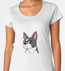 Funny I Do What I Want Boston Terrier Women's Premium T-Shirt