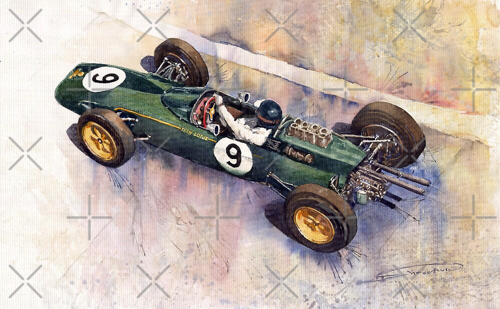 Lotus 25 F1 Jim Clark Monaco GP 1963 by Yuriy Shevchuk