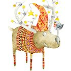 Christmas reindeer  by Ruta Dumalakaite