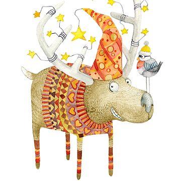 Christmas reindeer  by Ruta