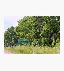 Small Town Road Sign Photographic Print