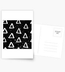 Triangle Doodle Pattern Postcards