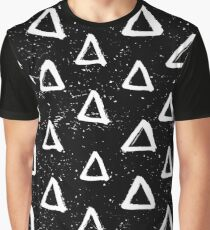 Triangle Doodle Pattern Graphic T-Shirt