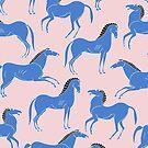 griechische Keramik Stil Pferde Muster von MartaOlgaKlara