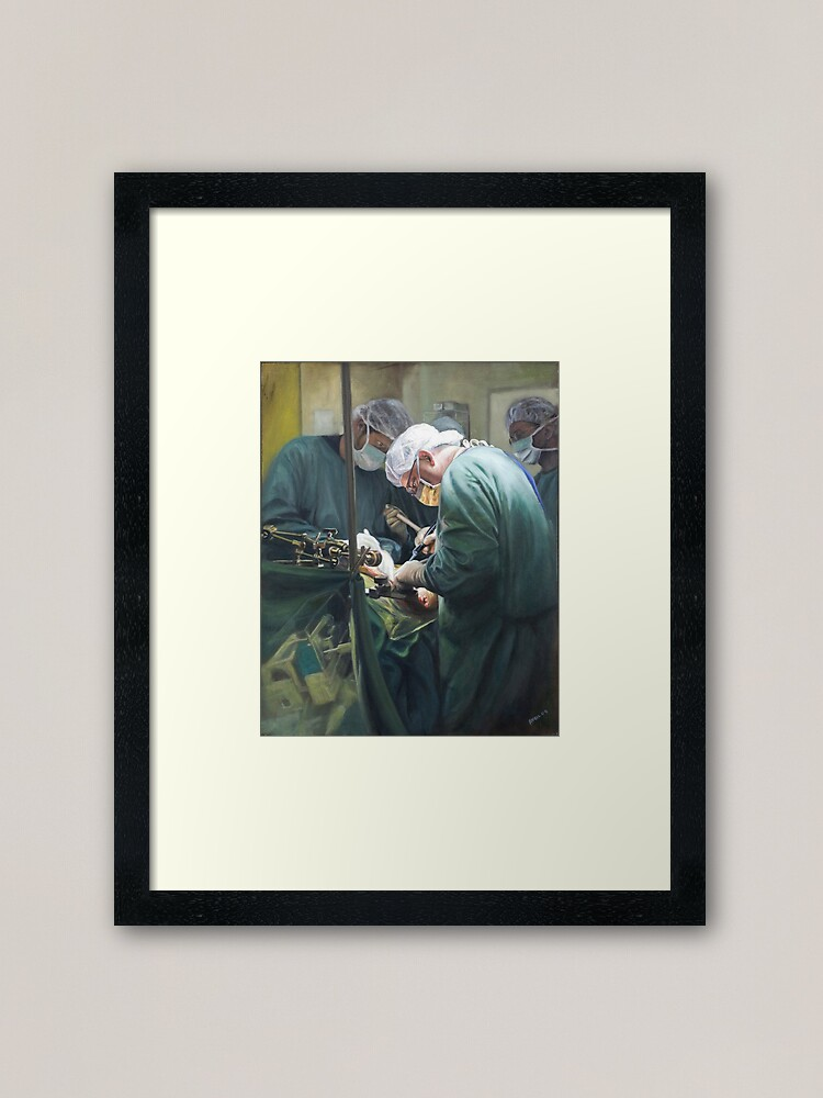 Alternate view of Focus - Oil on canvas by Avril Thomas Framed Art Print