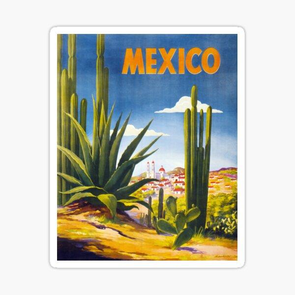 Cartel vintage de México restaurado Pegatina