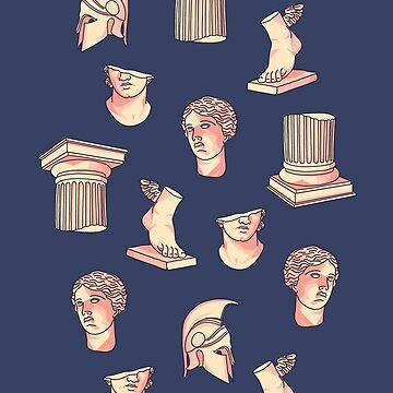 Griechisches klassisches Statuenmuster von MartaOlgaKlara
