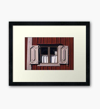 Rustic Shutters  Framed Print