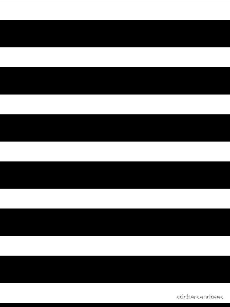 Black White Striped Mini Skirt by stickersandtees