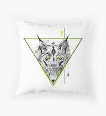 Geometrischer Luchs | Bobcat Tiergeist Totem. Dekokissen