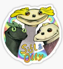 SIFL AND OLLY -- AND CHESTER Sticker