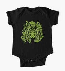 Earth Temple Spirit Guardian by Kalin Kadiev Short Sleeve Baby One-Piece
