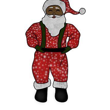 Black Santa Afro Christmas African Xmas African American  by dukito