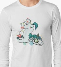 Weihnachten Unicorn Funny Holiday Langarmshirt