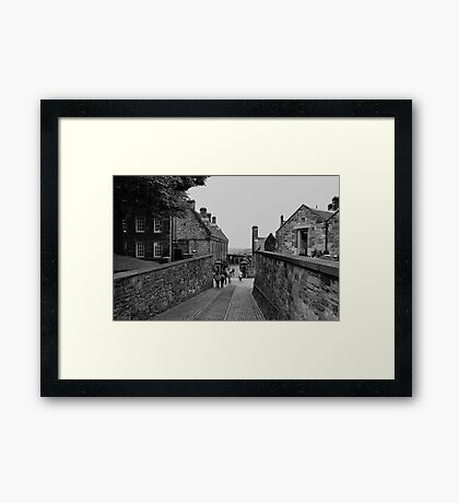 Inside the grounds of Edinburgh Castle. Framed Print