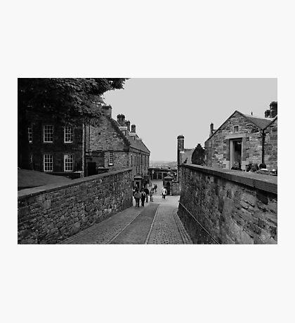 Inside the grounds of Edinburgh Castle. Photographic Print