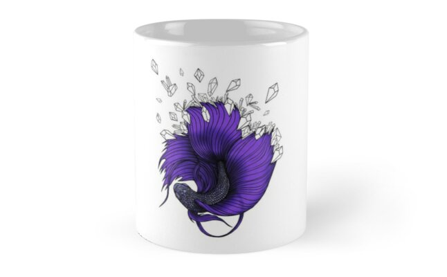 Purple Betta Fish with Crystals  by 1x1PixelCorp