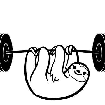 Sloth Fitness Sport by Johnnypointjoe
