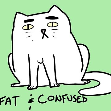 fat and confused cat by bloosclues