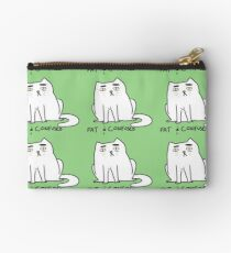 fat and confused cat Studio Pouch