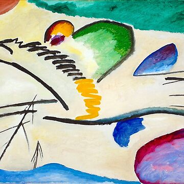 The Rider - Wassily Kandinski Expressionist Art by NewNomads