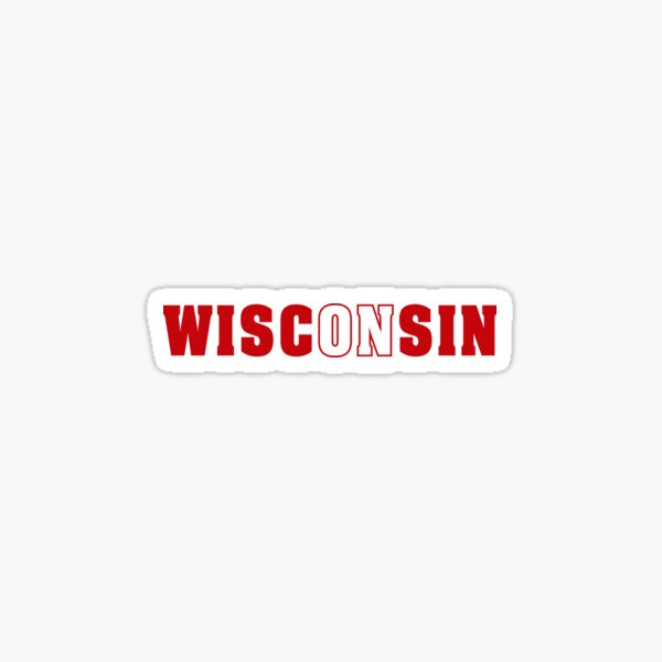 On Wisconsin Sticker