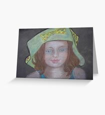 Young Girl In A Hat Greeting Card