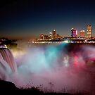 Winter Night at Niagara Falls by Misti Love