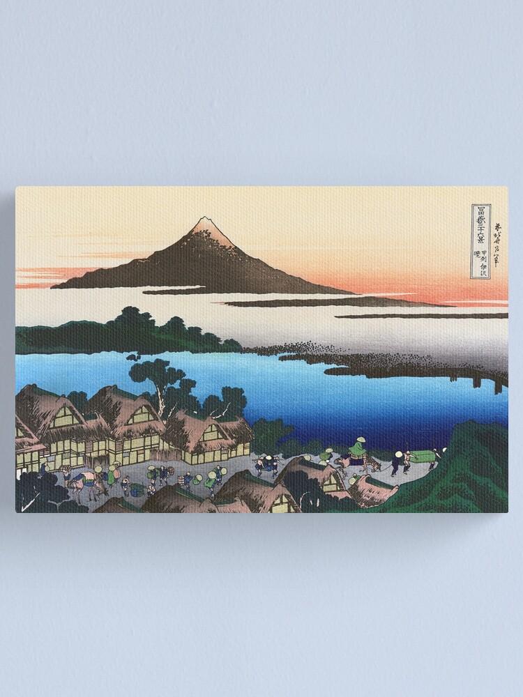 Dawn At Isawa In Kai Province By Katsushika Hokusai Canvas Print By Takeda Art Redbubble
