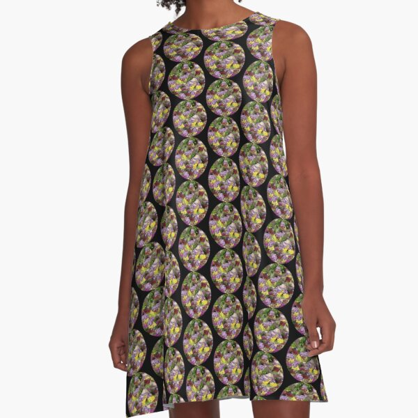 Scottish Spring Flowers A-Line Dress