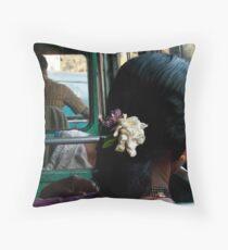 Goan woman Throw Pillow
