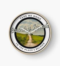 Country Roads, Take me Home Clock