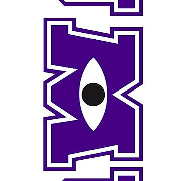 JMU / Monsters University Parody Logo - Vertical - Purple and White  by obiwayne
