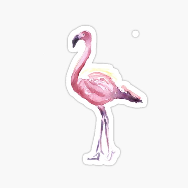 Full Flamingo Sticker