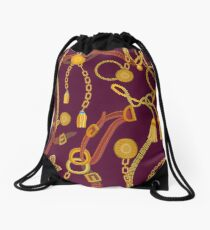 Pattern with jewelry elements. Drawstring Bag