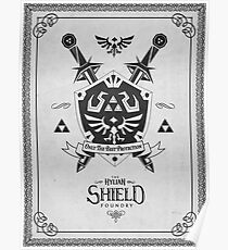 Legende von Zelda Hylian Shield Geek Linie Artly Poster