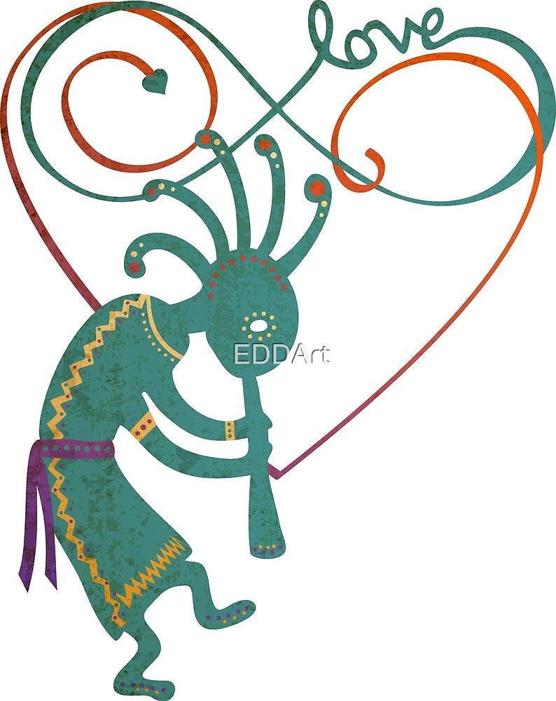 Infinity Love Heart Lemniscate - Native American Kokopelli 1 by EDDArt