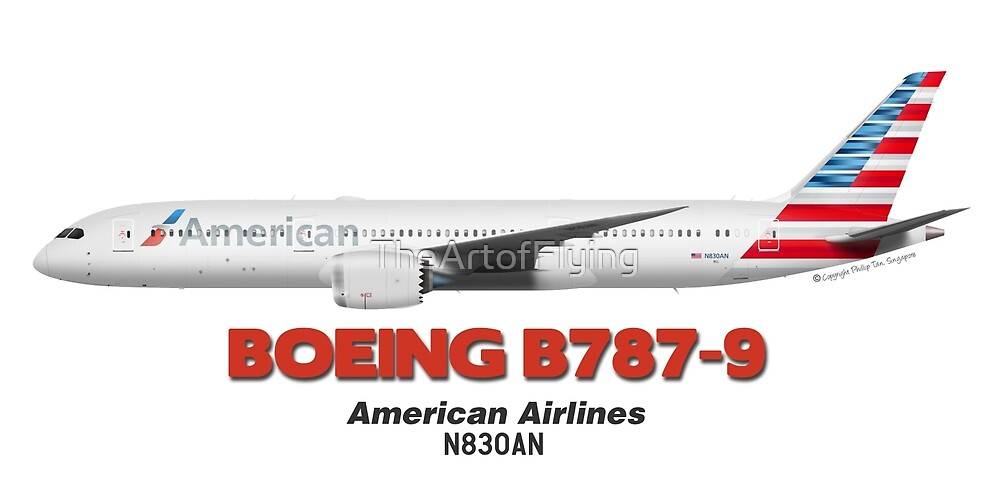 Boeing B787-9 - American Airlines by TheArtofFlying