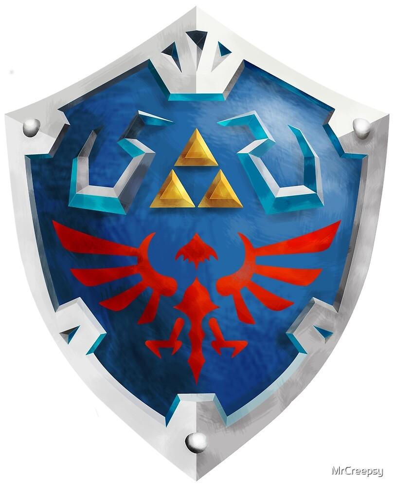 Hylian Shield The Legend of Zelda by MrCreepsy